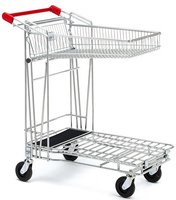 Caddie winkelwagen met opklapbare korf