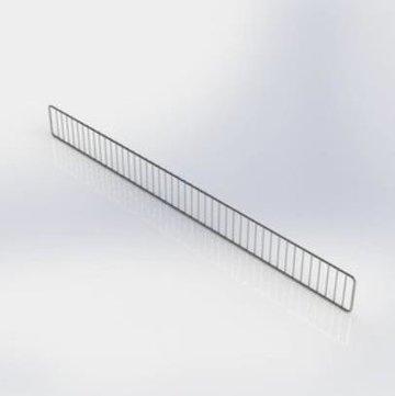 Voorrand metaal draad H9,5 L100cm chroom