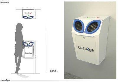 ZB Automatische Hygienestation Wandunit