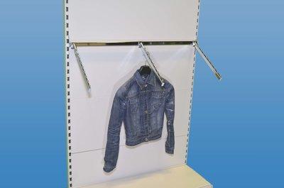 Textielhaak schuin hangend met 9 noppen L40cm